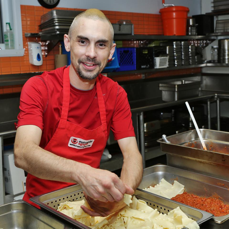 Entraide Agapè - mets préparés cuisine commerciale